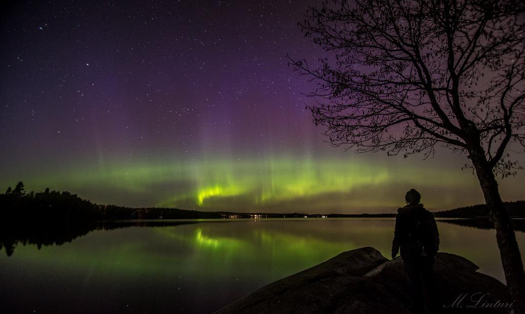Aurora at Espoo Lake Bodom